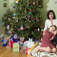 Elif and Mina by the Christmas Tree
