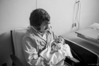 Holding my daughter Elif in the hospital