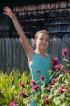 Mina in the garden