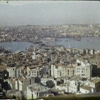 Turquie, Constantinople, Panorama s/ la Corne d'Or vers Mehmed D