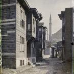 Turquie, Constantinople, Maisons en bois dans le Vieux Stamboul