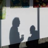 Shadows under art