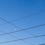 Moon Wire Framed
