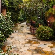 Entry walkway from the garden door