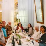 The birthday party, Mustafa, Ilhan, Cemal, Elif, Mina, Jan, Esin
