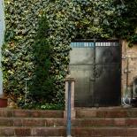 Garden entry door