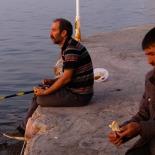 Fishermen while we had dinner at Sehir Kulubu