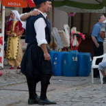 Lesvos dancers posing for their friends