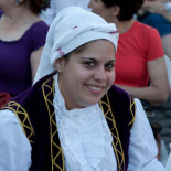Dressed in traditional costume