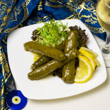 Traditional Turkish dishes, stuffed grape leaves