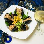 Traditional Turkish dishes, stuffed mussels