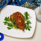 Traditional Turkish dishes, Imam Bayildi (Imam really enjoyed it)