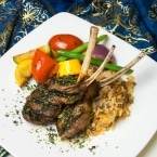 Traditional Turkish dishes, lambchops