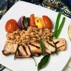 Traditional Turkish dishes, chicken sish kebap