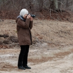 Jan Photographing the cranberry bog