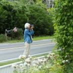 Jan photographing Bramble Inn