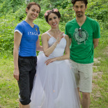 After the first photo session (Photo by Jan Ekin)