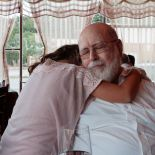 Enjoying a hug from Mina
