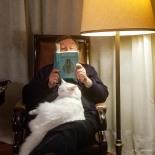 Ergun with Gunduz on his lap