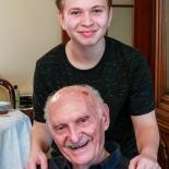 Kagan and grandfather Sureyya