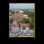 Hagia Eirene church behind Hagia Sophia, Topkapi Palace behind