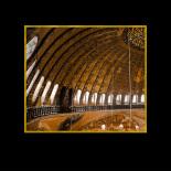 Main dome, dome ribs, windows, and service walkway