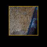 Gold mosaics on the window buttress