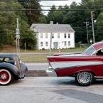 A pair of hotrods we saw at a pit stop on the way back