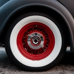 The wheel on the Buick