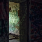 It was dark inside these bunkers