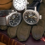 German quality, aviator, adventure motif, note the pushed in crowns in finished photo