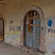 Portico and graffiti