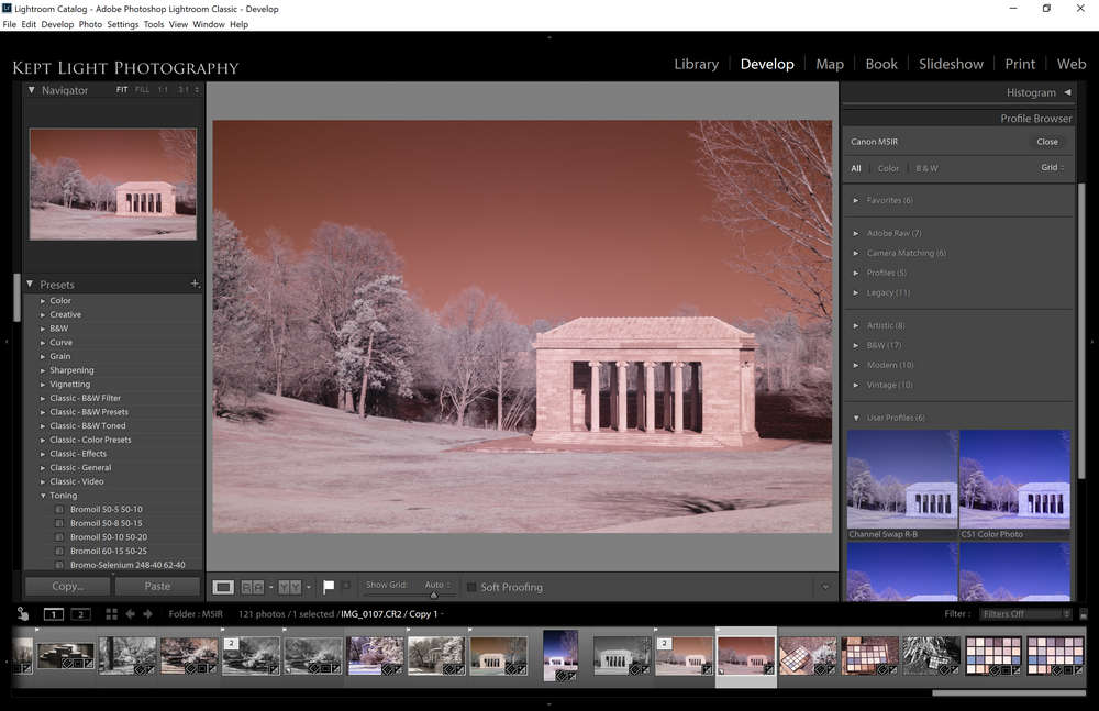 Red-Blue channel swap directly in Lightroom is available now