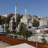 The Kilic Ali Pasa Mosque and Istanbul Modern in the midst of construction