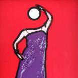 Julian Opie, Ann Dancing In Sequined Dress, Computer animation