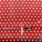 A polka-dot minibus