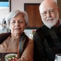 Binnaz and Cemal at Divan Brasserie