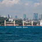 Cargo ship passing