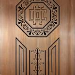 Decorated Elevator Door
