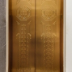 Decorated FIreproof Elevator Doors
