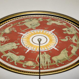 Zodiac Painting Above the Chandelier
