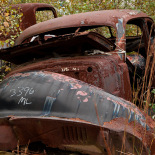 Some were totally rusted out, even the grass looked rusty