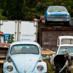 Below the Gremlin, a VW Bug