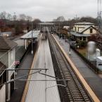 Acela Going by, Kingston Rail Station, RI