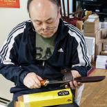 Ye examining the buck knives