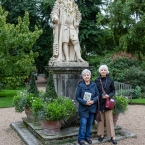 Physic Garden, Binnaz and Jan with Sir Henry Sloane