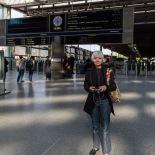 Jan at St. Pancras Station to Sheffield