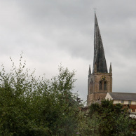 Crooked Tower of Chesterfield Parish Church, Derbyshire