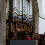 The pipe organ of St. Augustine