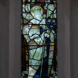 The stained glass windows of St. Augustine